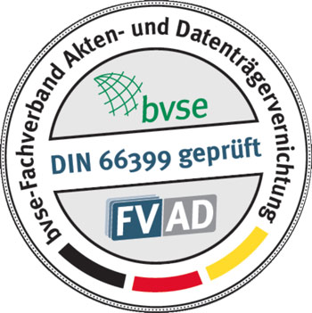 Augustin Entsorgung Aktenvernichtung in Delmenhorst BVSE Siegel Zertifikat